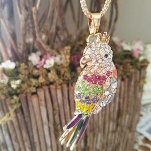 Tropical paradise parrot Colorful Necklace